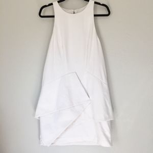 Finders Keepers knee length white panel dress